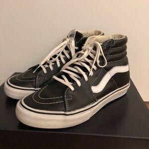 Women's Vans Leather SK8-Hi Sneakers